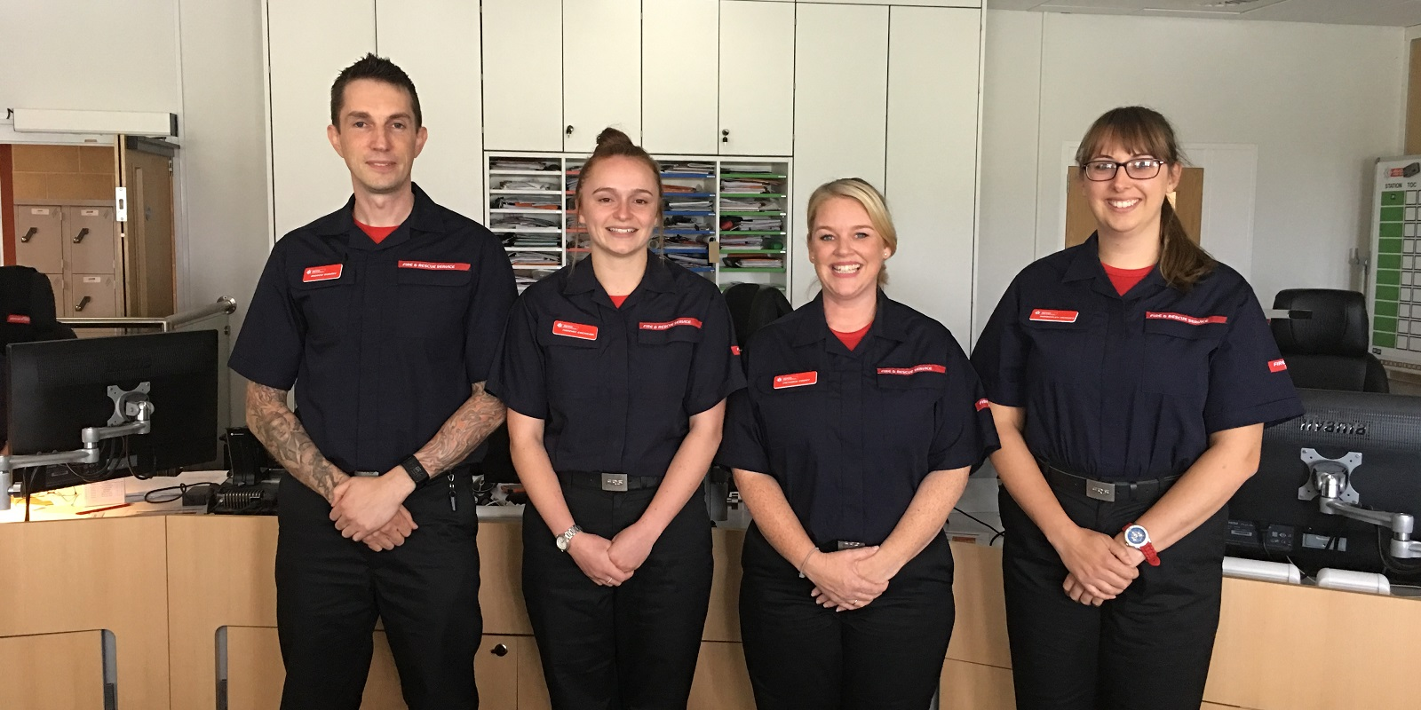 Hannah Cockram and control staff