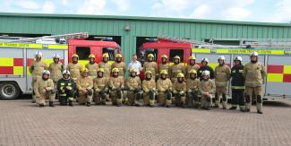 Mick with new firefighters